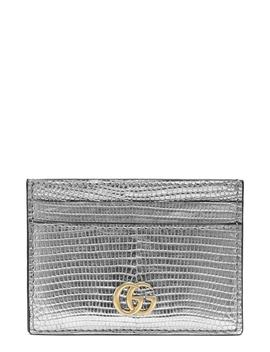 Petite Marmont Genuine Lizardskin Card Case by Gucci