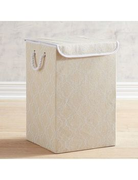 Clementine Ivory Laundry Hamper With Lid by Pier1 Imports