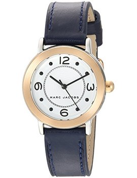Marc Jacobs Women's 'riley' Quartz Stainless Steel And Leather Casual Watch, Color:Blue (Model: Mj1604) by Marc+Jacobs