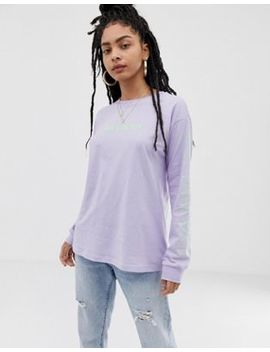 Asos Design Long Sleeve T Shirt With Stacked Nyc Graphic by Asos Design