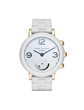 Marc Jacobs Women's Riley Aluminum And Silicone Hybrid Smartwatch, Color: Gold Tone, White (Model: Mjt1004) by Marc+Jacobs