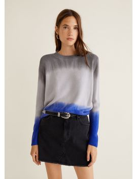 Tricolor Knit Sweater by Mango