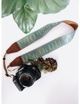 Camera Strap Pine Tree Landscape Outdoor Adventure Evergreen Color by Etsy