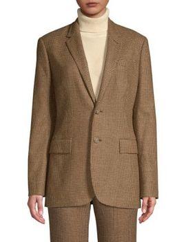 Houndstooth Wool Blend Blazer by Polo Ralph Lauren