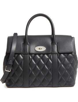 Bayswater Quilted Calfskin Leather Satchel by Mulberry