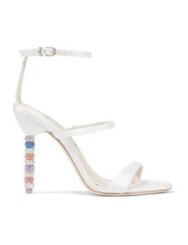 Rosalind Crystal Embellished Satin Sandals by Sophia Webster