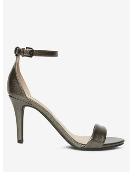 Pewter 'stella' Heeled Sandals by Dorothy Perkins