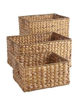 Carson Natural Wicker Shelf Storage Baskets by Pier1 Imports