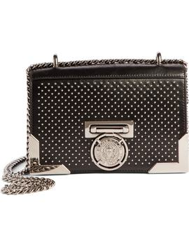 Baby Box Studded Leather Shoulder Bag by Balmain