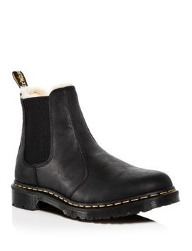 Women's Leonore Leather Chelsea Booties by Dr. Martens