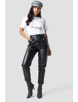 Pu Leather Cropped Pants by Chloé X Na Kd
