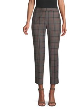 Plaid Wool Ankle Pants by Peserico