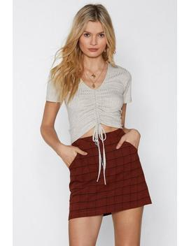 Cutting It Close Ruched Crop Top by Nasty Gal