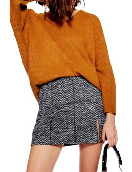 Herringbone Miniskirt by Topshop