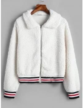 Fluffy Short Faux Fur Winter Coat   White Xl by Zaful