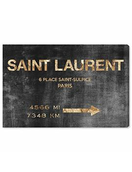 "Oliver Gal 'saint Sulpice Road Sign' Canvas Art, 36""X24"" by The Oliver Gal Artist Co."