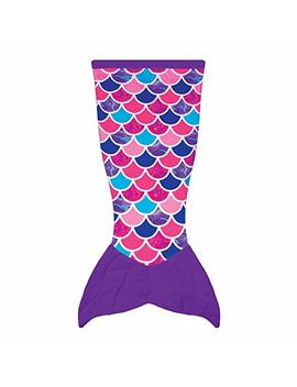 Fin Fun Mermaid Tail Blanket For Kids Cuddle Tails (Kids, Sea Orchid) by Fin Fun