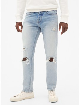 Limited Edition Cone Denim® Distressed Selvedge Jeans In Slim Fit by Gap