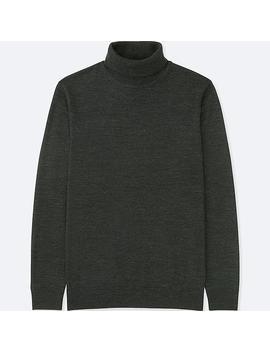 Herren 100 Percents Extra Feine Merinowolle Pullover (Rollkragen) by Uniqlo