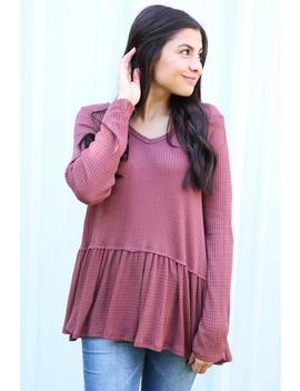 Country Song Top  Mauve by Hazel & Olive