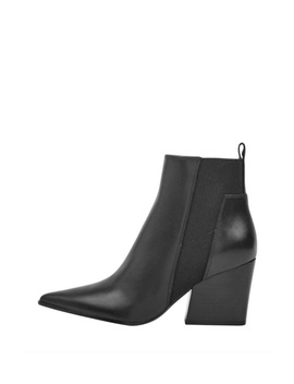 Finch Leather Booties by Boutique Tag, Montreal