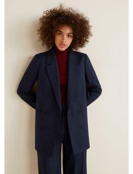 条纹西装外套 by Mango