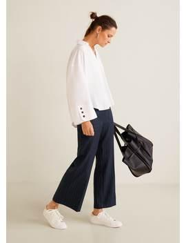 印花口袋长裤 by Mango