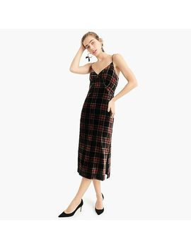 Spaghetti Strap Midi Dress In Stewart Tartan by J.Crew