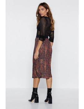 Snake Two Midi Skirt by Nasty Gal