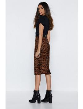 Bad Kitty Leopard Midi Skirt by Nasty Gal