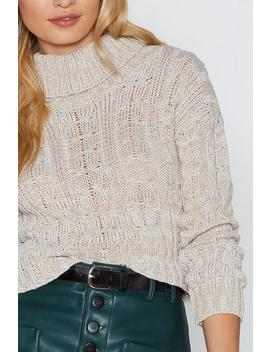 Fall Up Knit Sweater by Nasty Gal