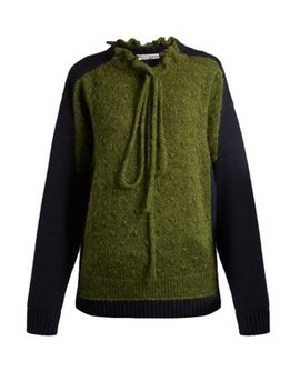 Panelled Lambswool Blend Sweater by Jw Anderson