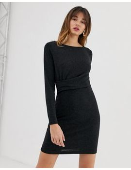 Vero Moda Knitted Twist Waist Dress by Vero Moda