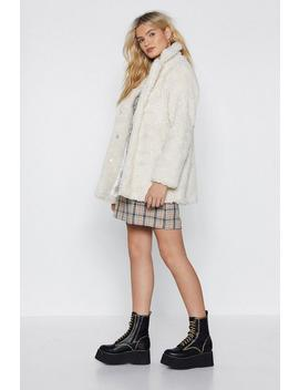 Just Fur You Faux Shearling Coat by Nasty Gal