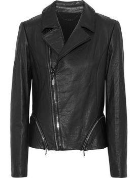 Emalia Leather Biker Jacket by Elie Tahari