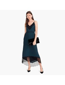 Collection Spaghetti Strap Pleated Midi Dress by J.Crew
