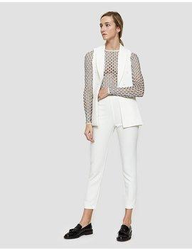 Helene Pants In White by Farrow