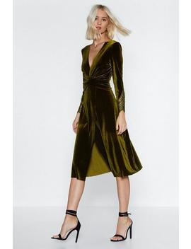 When In Doubt Velvet Dress by Nasty Gal