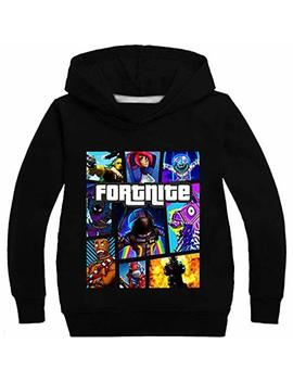 Shagir Fortnite Hoodies Hooded Sweatshirts Long Sleeved Jackets For Children,Boys,Girls by Shagir