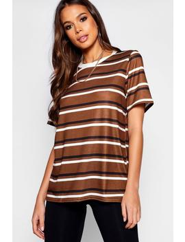 Tall Stripe Ringer Tee by Boohoo