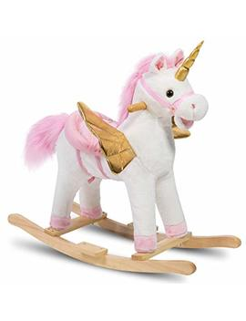 Holly Home Plush Rocking Unicorn With Wings Stuffed Rocking Animals Rock On by Holly Home