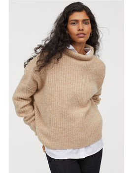 Ribbed Wool Blend Jumper by H&M