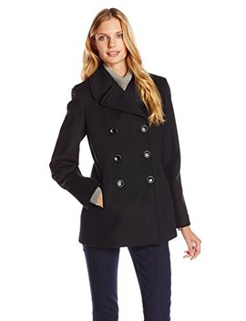 Calvin Klein Women's Double Breasted Classic Peacoat by Calvin+Klein