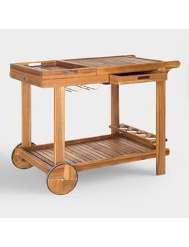 Wood Outdoor Bar Cart by World Market