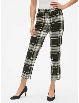 Slim City Plaid Crop Pants by Gap