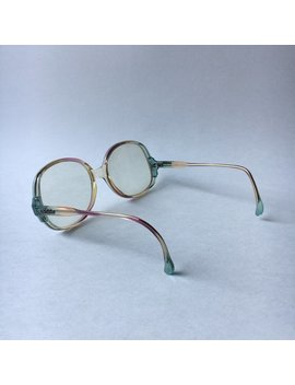 Awesome Da Vinci Vintage Sample Glasses Mod Pink Peach Aqua Blue Plastic Frames Italy by Etsy