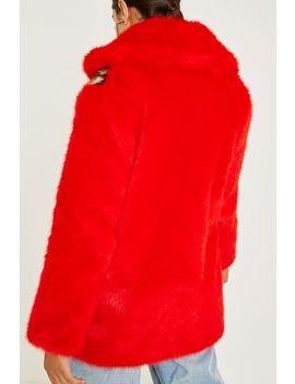 Jakke Sarah Red Leopard Print Faux Fur Coat by Jakke