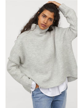 Rib Knit Wool Blend Sweater by H&M