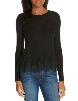 Lace Trim Sweater by Rebecca Taylor