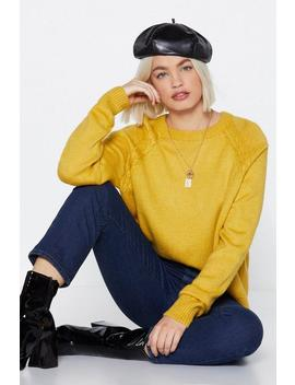 Emotionally Cable Knit Sweater by Nasty Gal